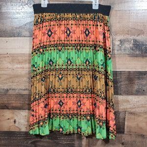 Lularoe Jill accordion pleat southwestern skirt